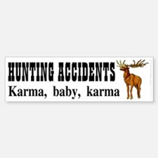 Hunting accidents Sticker (Bumper)