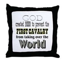 1st Calvary Division Beer Throw Pillow