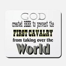 1st Calvary Division Beer Mousepad