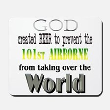 101st Airborne Beer Mousepad
