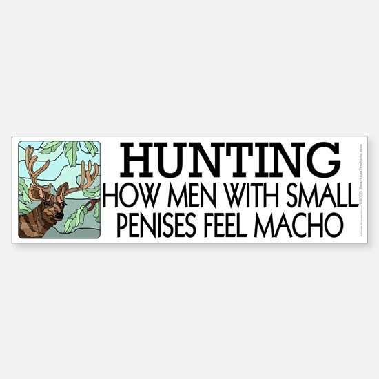 Hunting: How men... Sticker (Bumper)