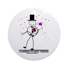 I Married My Best Friend Ornament (Round)