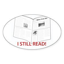I Still Read! Oval Sticker (10 pk)