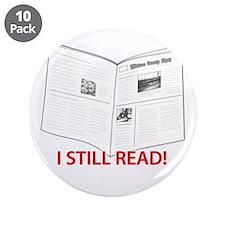 """I Still Read! 3.5"""" Button (10 pack)"""