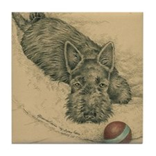 Scottie Play Ball Tile Coaster