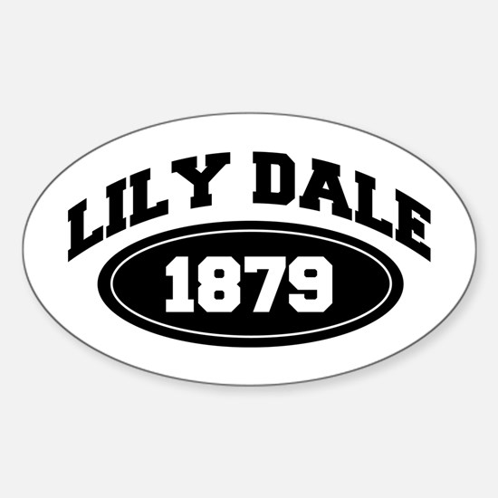 LILY DALE 1879 Oval Decal