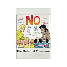Maternal Thesaurus Rectangle Magnet