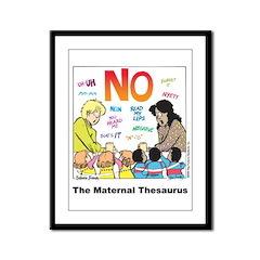 Maternal Thesaurus Framed Panel Print