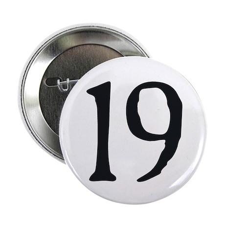 """""""19"""" v.2 (b/w) 2.25"""" Button"""