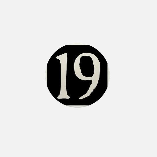 """""""19"""" v.2 (w/b) Mini Button"""
