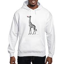 Red Nosed Giraffe Hoodie Sweatshirt