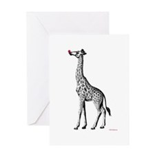 Red Nosed Giraffe Greeting Card
