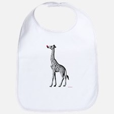 Red Nosed Giraffe Bib