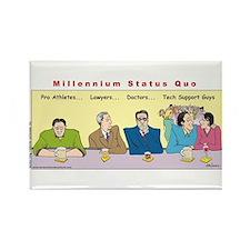 Millennium Status Quo Rectangle Magnet