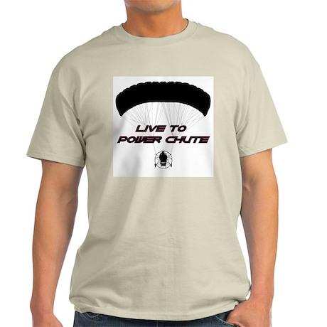 """Live to Power Chute"" Ash Grey T-Shirt"