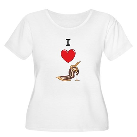 I Love Bacon Women's Plus Size Scoop Neck T-Shirt