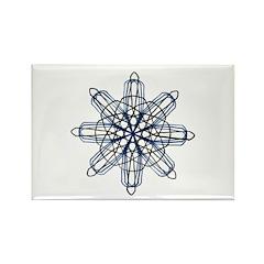 Blue Star Spirograph Rectangle Magnet (100 pack)
