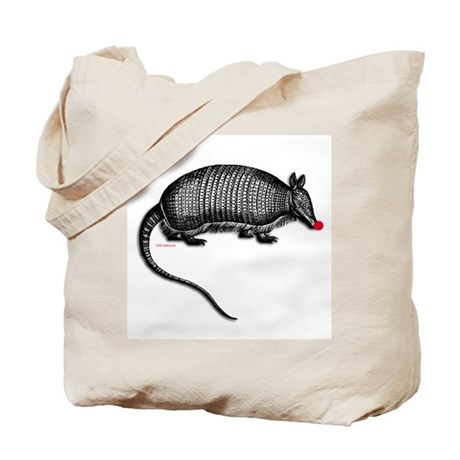 Red Nosed Armadillo Tote Bag