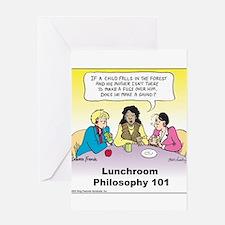 Lunchroom Philosophy Greeting Card