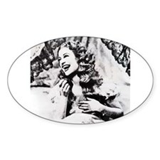 Jeanette MacDonald Oval Decal