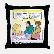 REAL Personal Computers Throw Pillow