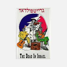 Color Deadhead Israel Rectangle Magnet