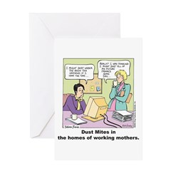 Dust Mites Greeting Card