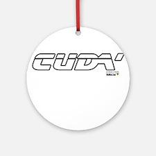 Cuda T Ornament (Round)