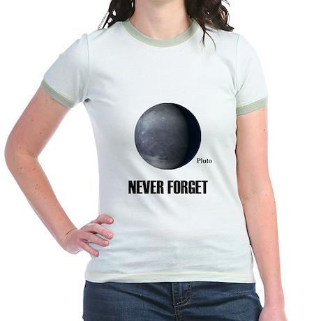 Never Forget Pluto Jr. Ringer T-Shirt