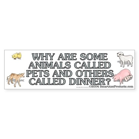 Why are some animals Sticker (Bumper)