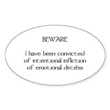 BEWARE Oval Decal
