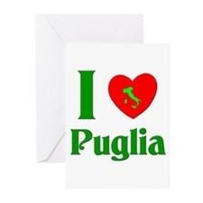 I Love Puglia Greeting Cards (Pk of 10)