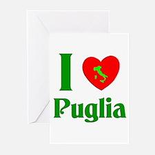 I Love Puglia Greeting Cards (Pk of 10)