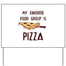 Pizza Lovers Yard Sign