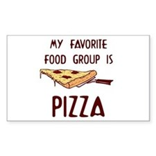 Pizza Lovers Rectangle Decal