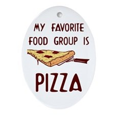 Pizza Lovers Oval Ornament