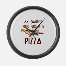 Pizza Lovers Large Wall Clock