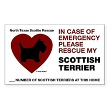 SCOTTISH TERRIER EMERGENCY RESCUE Decal