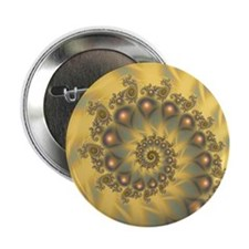 "Golden Fiddle Fractal 2.25"" Button (10 pack)"