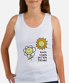 Bloom Where Planted 1 Women's Tank Top