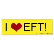 I Love EFT Bumper Bumper Sticker