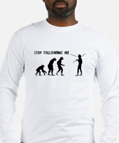Stop Following Me Evolution Long Sleeve T-Shirt