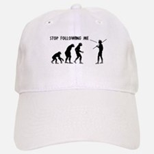Stop Following Me Evolution Baseball Baseball Cap