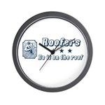 Roofers Do it on the Roof Wall Clock