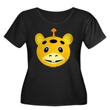 Horned Orange Monster Women's Plus Size Scoop T