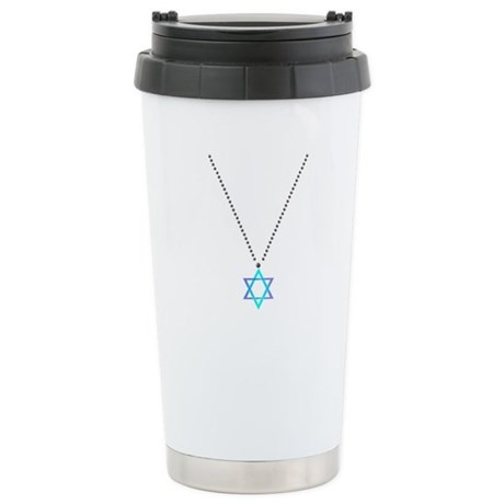 Star Of David Necklace Stainless Steel Travel Mug