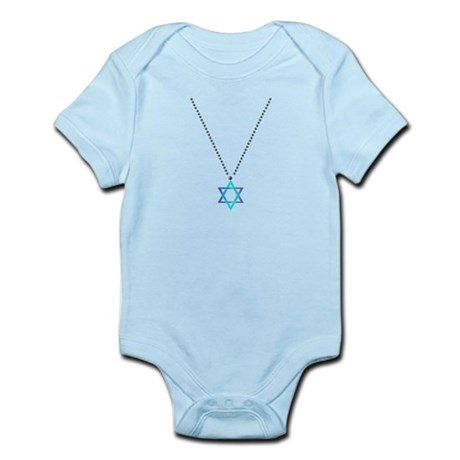Star Of David Necklace Infant Bodysuit