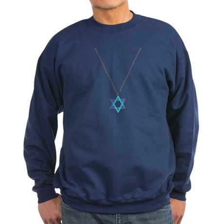 Star Of David Necklace Sweatshirt (dark)