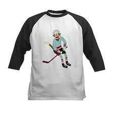 Sock Monkey Ice Hockey Player Tee