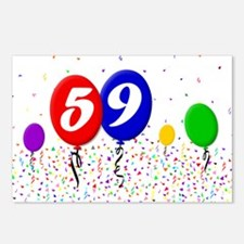 59th Birthday Postcards (Package of 8)